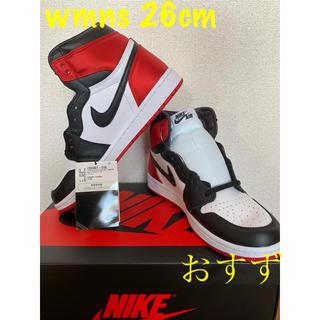 ナイキ(NIKE)の★26.0cm★air jordan 1  high black toe (スニーカー)