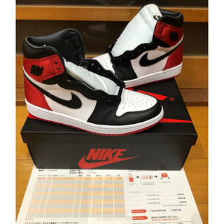 ナイキ(NIKE)の【込み】AIR Jordan 1 satin BLACK TOE 25.5 (スニーカー)