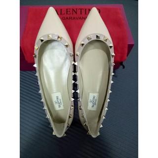 ヴァレンティノ(VALENTINO)のValentinoフラットシューズ  靴 レディース  未使用 ピンク(バレエシューズ)