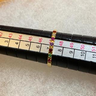 ユナイテッドアローズ(UNITED ARROWS)のk18  ユナイテッドアローズ マルチストーンリング(リング(指輪))