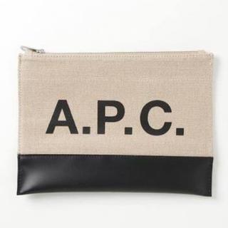 アーペーセー(A.P.C)のA.P.C Axel Canvas & Leather Logo Pouch(ポーチ)