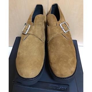 イサムカタヤマバックラッシュ(ISAMUKATAYAMA BACKLASH)の新品箱付バックラッシュ19SSジャパンカーフスエードレザーモンクストラップ短靴(ドレス/ビジネス)