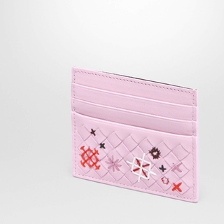Bottega Veneta - ラスト1【新品】BOTTEGA VENETA 刺繍 カードホルダー ピンク