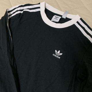 アディダス(adidas)の美品☆adidas ロングTシャツ(Tシャツ(長袖/七分))