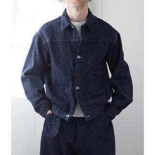 コモリ(COMOLI)のCOMOLI デニムジャケット ネイビー サイズ2 新作 試着のみ(Gジャン/デニムジャケット)
