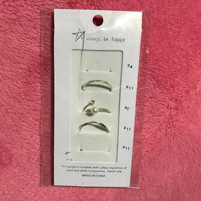 指輪 リング 5個中の3個です レディースのアクセサリー(リング(指輪))の商品写真