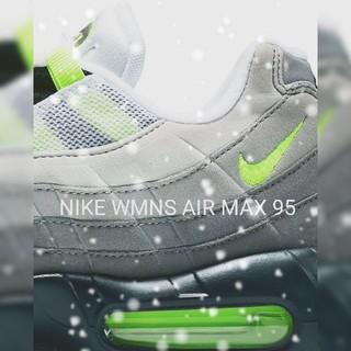 ナイキ(NIKE)のNIKE WMNS AIR MAX 95 イエローグラデ 25.0 美品です!(スニーカー)