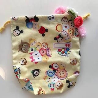 ディズニー(Disney)の新品♡ディズニーツムツムきんちゃく袋(ランチボックス巾着)