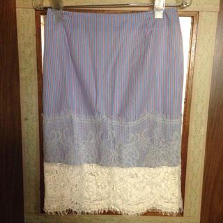 ニーナミュウ(Nina mew)のレース切り替えタイトスカート(ひざ丈スカート)