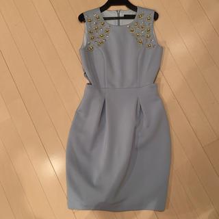 リリーブラウン(Lily Brown)のリリーブラウン ビーズ付き ドレス  サイズ0(ミディアムドレス)
