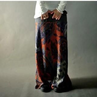 アンティカ(antiqua)のちゅら様専用。アンティカ 2way柄デザインリブロングスカート(ロングスカート)