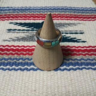 インディアン(Indian)のとら様専用インディアンジュエリー ズニ族 インレイ シルバーリング 指輪 11号(リング(指輪))