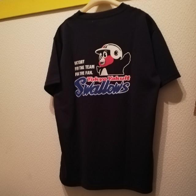 東京ヤクルトスワローズ(トウキョウヤクルトスワローズ)の東京ヤクルトスワローズ 非売品?つば九郎ドライTシャツ Lサイズ新品 スポーツ/アウトドアの野球(応援グッズ)の商品写真