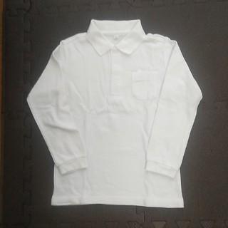 ニシマツヤ(西松屋)の【送料込】美品! 西松屋 長袖ポロシャツ 白 サイズ120(その他)