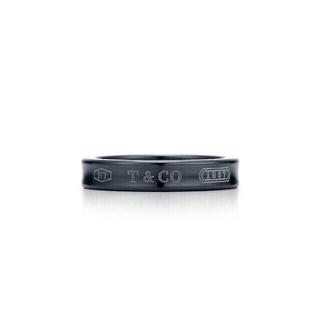 ティファニー(Tiffany & Co.)の美品✨ティファニー1837ブラックチタンリング9号(8.5号)(リング(指輪))