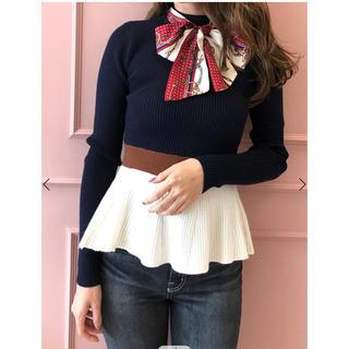 エイミーイストワール(eimy istoire)のりっちゃん様専用♡  スカーフ付きペプラムニットプルオーバー(ニット/セーター)