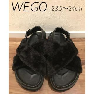 ウィゴー(WEGO)のWEGO ファーサンダル 23.5〜24cm(サンダル)