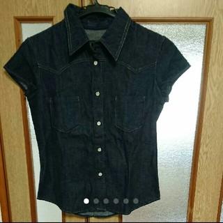 ルシェルブルー(LE CIEL BLEU)のle ciel blueデニムシャツ  (シャツ/ブラウス(半袖/袖なし))