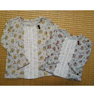 ビケット(Biquette)のビケット 花柄トップス おそろい 80 110(Tシャツ/カットソー)
