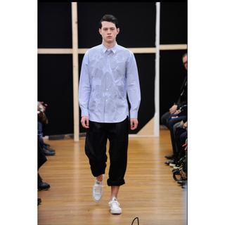 コムデギャルソンオムプリュス(COMME des GARCONS HOMME PLUS)のギャルソンシャツ ウールポリ サイドアジャスターワイドパンツ(ワークパンツ/カーゴパンツ)