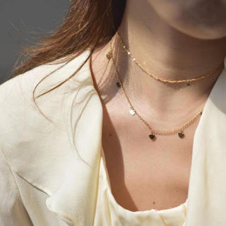 カスタネ(Kastane)の新品 ハート  チャーム ゴールド チョーカー 華奢 ネックレス(ネックレス)