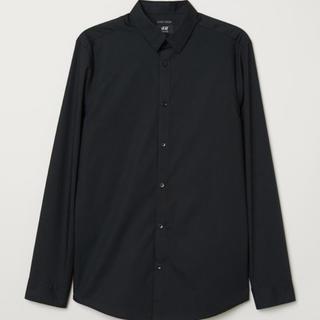 エイチアンドエム(H&M)のメンズ H&M ブラック シャツ 長袖【新品】(シャツ)