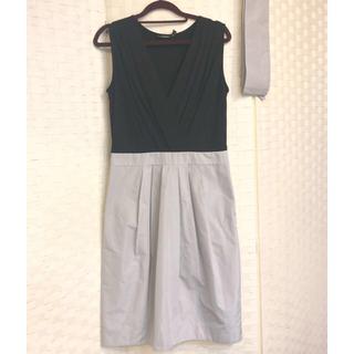 ダナキャランニューヨーク(DKNY)のDKNY 配色 切り替えドレス 膝丈ワンピース(ひざ丈ワンピース)