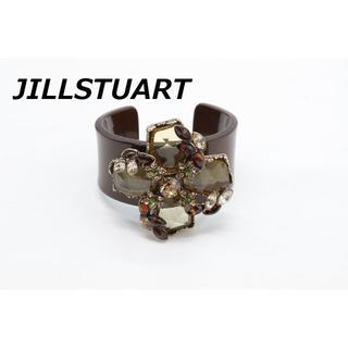 ジルスチュアート(JILLSTUART)のR-545 JILLSTUART ジルスチュアート ビジュー バングル ブラウン(ブレスレット/バングル)