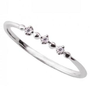 【セール】10K WG ダイヤモンドリング (リング(指輪))