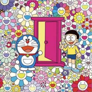 村上隆 ドラえもん ポスター お花畑の中の「どこでもドア」(ポスター)