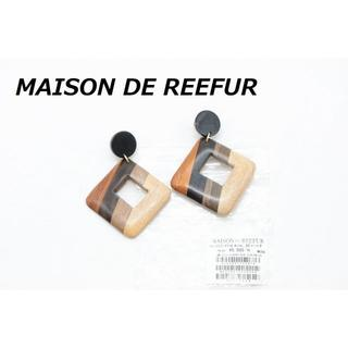 メゾンドリーファー(Maison de Reefur)の【R-572】メゾンドリーファー ウッド ピアス ビッグパーツ 揺れる 新品(ピアス)