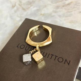 ルイヴィトン(LOUIS VUITTON)の正規品 ヴィトン 指輪 ラッキーグラム サイコロ 石 ダイス 金 銀 リング 2(リング(指輪))