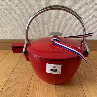 ストウブ(STAUB)のdreami様専用【新品未使用】ストウブ やかん 赤(調理道具/製菓道具)