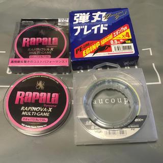 メジャークラフト(Major Craft)のエギング PE 0.5号・0.6 号 未使用品4個!ラピノバ 弾丸 G-soul(釣り糸/ライン)