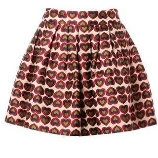 アリスアンドオリビア(Alice+Olivia)のAlice+olivia ハート柄スカート(ミニスカート)