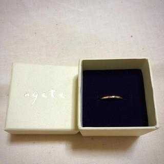 アガット(agete)のagete(アガット) ピンキーリング K10 ゴールド(リング(指輪))
