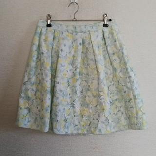 ロペピクニック(Rope' Picnic)の☆美品☆ロペピクニック 花柄 スカート 40(ひざ丈スカート)