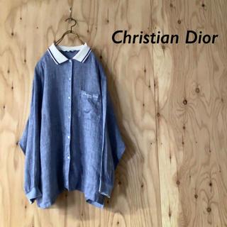ディオール(Dior)の90s Dior  ビッグシルエット ワンポイント刺繍 デザインシャツ(シャツ/ブラウス(長袖/七分))