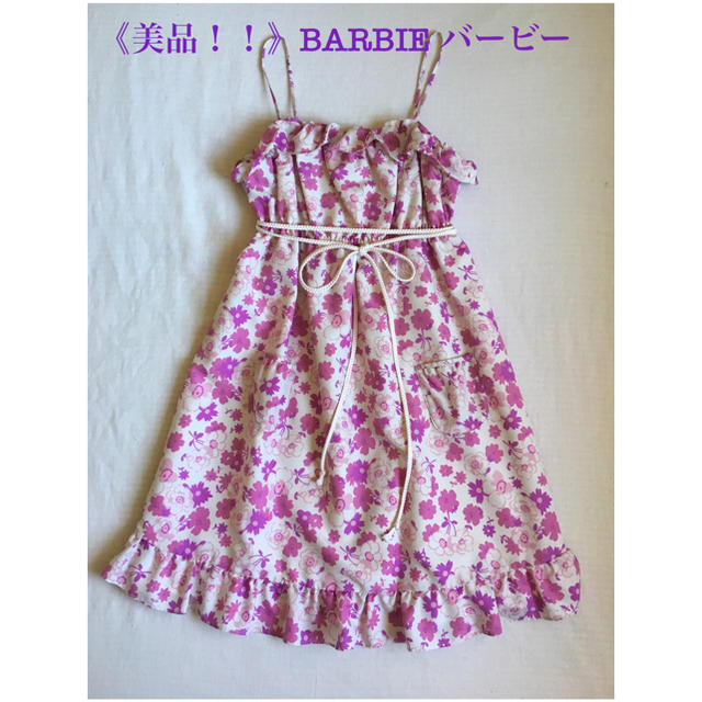 Barbie(バービー)の《美品!!》BARBIE バービー ミニ キャミ ワンピース レディースのワンピース(ミニワンピース)の商品写真