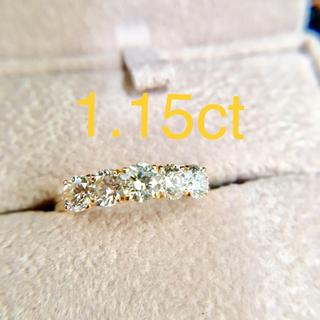 ダイヤモンドリング 1.15ct ダイヤリング 美品(リング(指輪))
