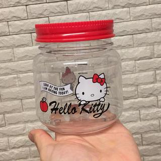 ハローキティ(ハローキティ)の未使用♥ キティちゃん キッチン用品 メモリつき プラスチックジャー いれもの(調理道具/製菓道具)