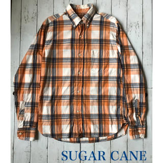 Sugar Cane - ♡SUGAR CANE♡シューガーケーン♡チェックシャツ♡綿♡アメリカ製♡L♡