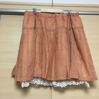 4L オレンジスカート(ミニスカート)
