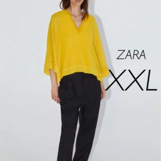 ザラ(ZARA)の【新品・未使用】ZARA ケープ  フルイド   ブラウス  XXL(シャツ/ブラウス(長袖/七分))