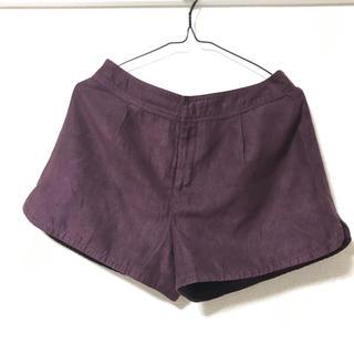 GU - 紫 ショートパンツ