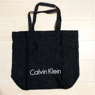 カルバンクライン(Calvin Klein)のCK カルバンクライン エコバッグ トートバッグ  黒(トートバッグ)