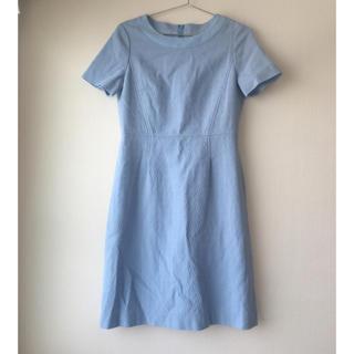 クレージュ(Courreges)のクレージュ ブルー 水色 ワンピース オケージョン ドレス 上品 綺麗 青(ひざ丈ワンピース)