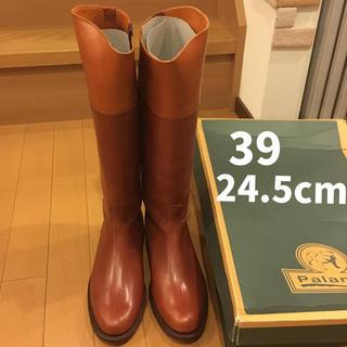 Palanco - 新品 PALANCO 乗馬ブーツ 39 ブラウン×ブラウニッシュゴールド