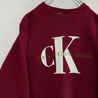 カルバンクライン(Calvin Klein)のカルバン クライン スウェット トレーナー 90s  ロゴ ビッグ ジーンズ(スウェット)