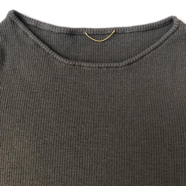 L'Appartement DEUXIEME CLASSE(アパルトモンドゥーズィエムクラス)のアパルトモン  ボートネック Rib Knit カーキ レディースのトップス(ニット/セーター)の商品写真